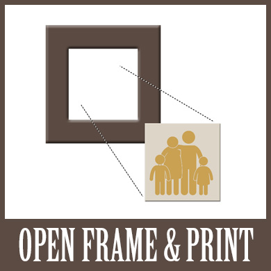 Open Frame with Print and Frame Option